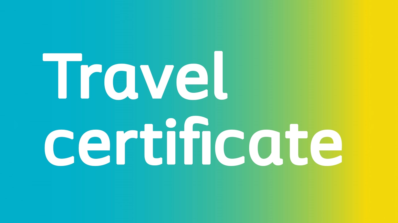 travel certificate for airport