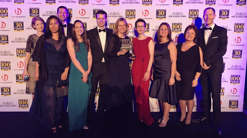 Coloplast recognised as one of the top 100 companies to work for in the UK