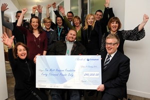 Joy for local charity as it is selected as charity of the year