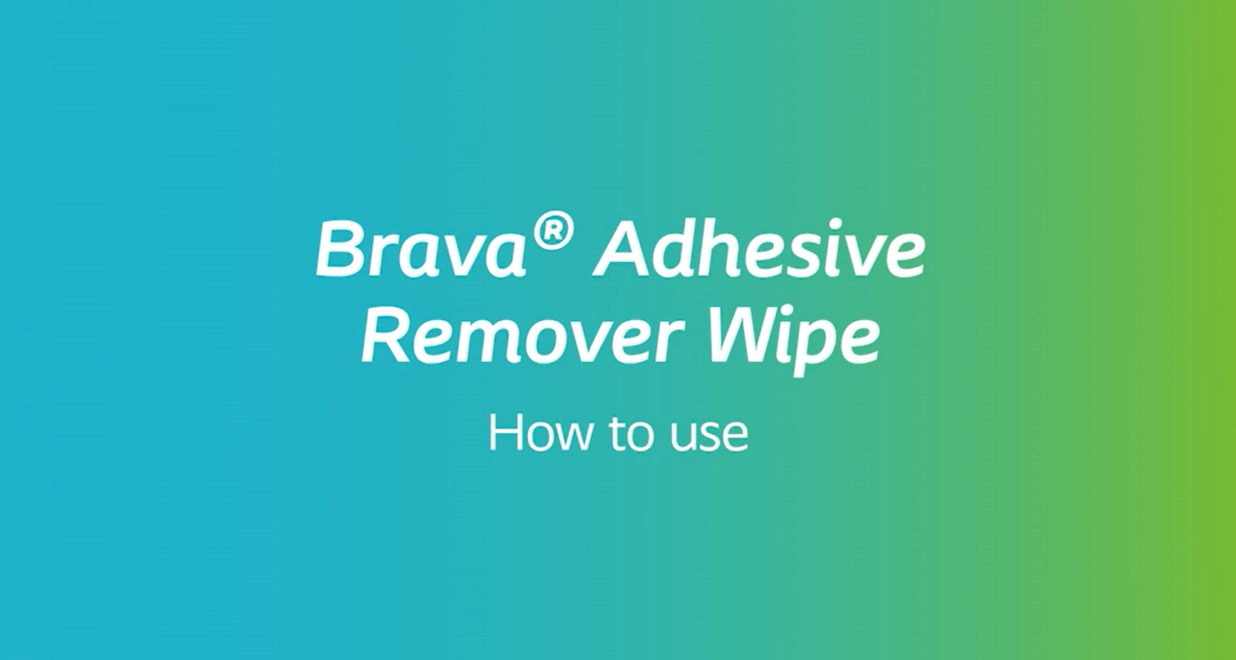 How to use Brava Adhesive Remover Wipe